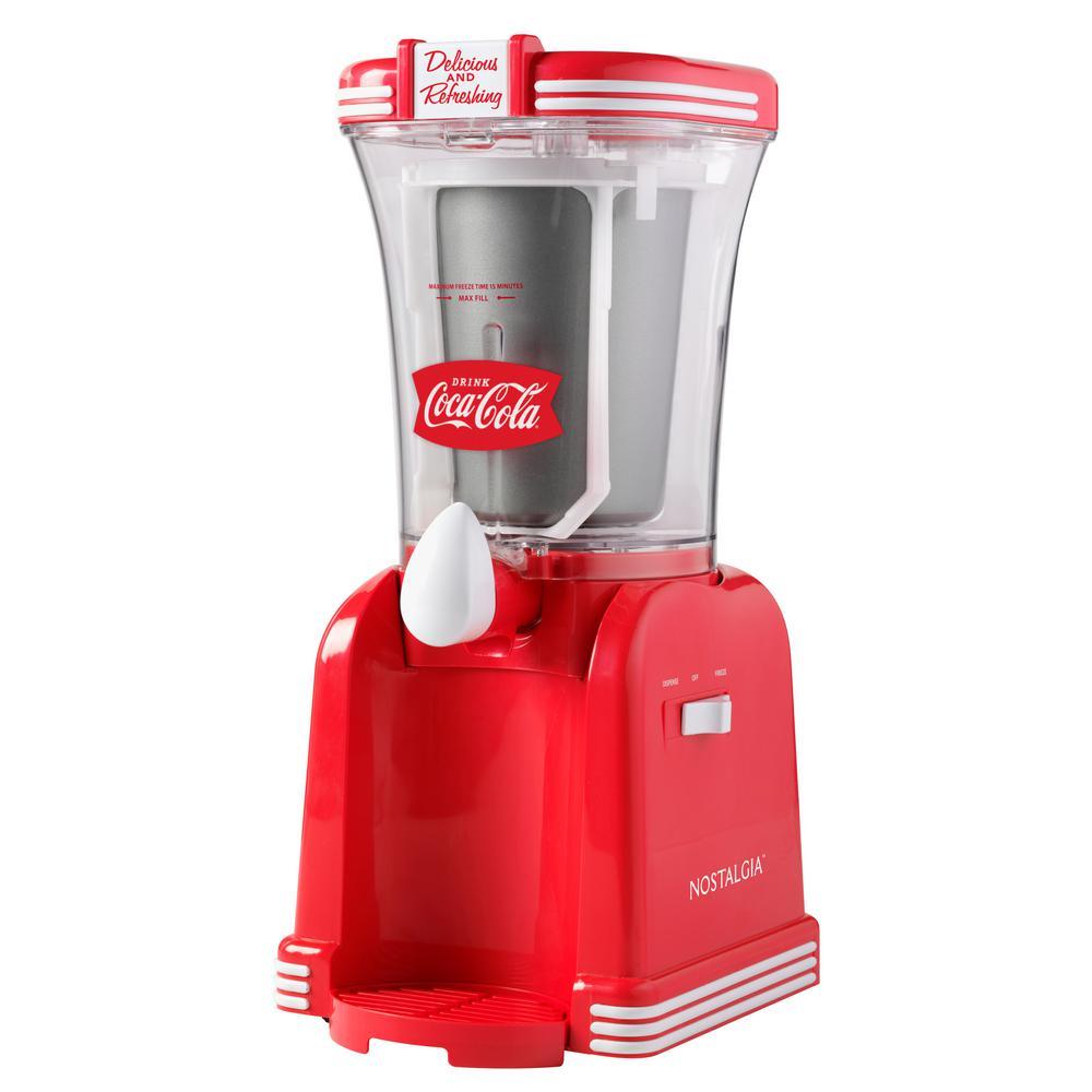32 oz. Red Coca-Cola Slush Drink Maker with Cord Storage
