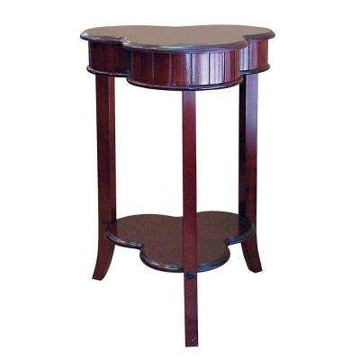 Shamrock Cherry Storage End Table