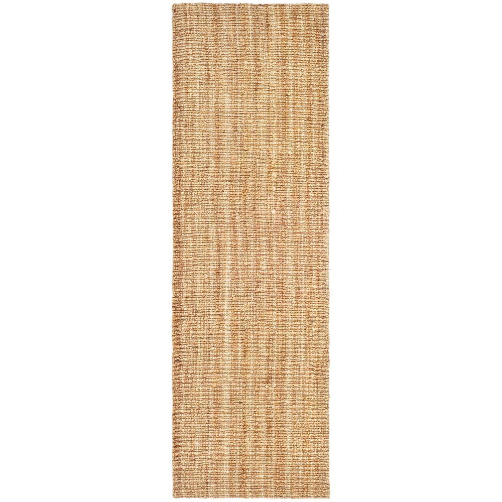 safavieh natural fiber beige 2 ft. 6 in. x 16 ft. rug runner