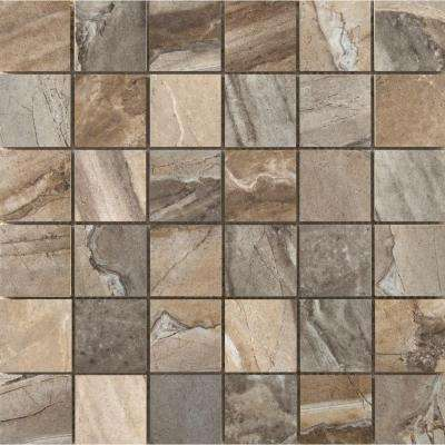 Eurasia Blend 13 in. x 13 in. x 7 mm Porcelain Mesh-Mounted Mosaic Tile