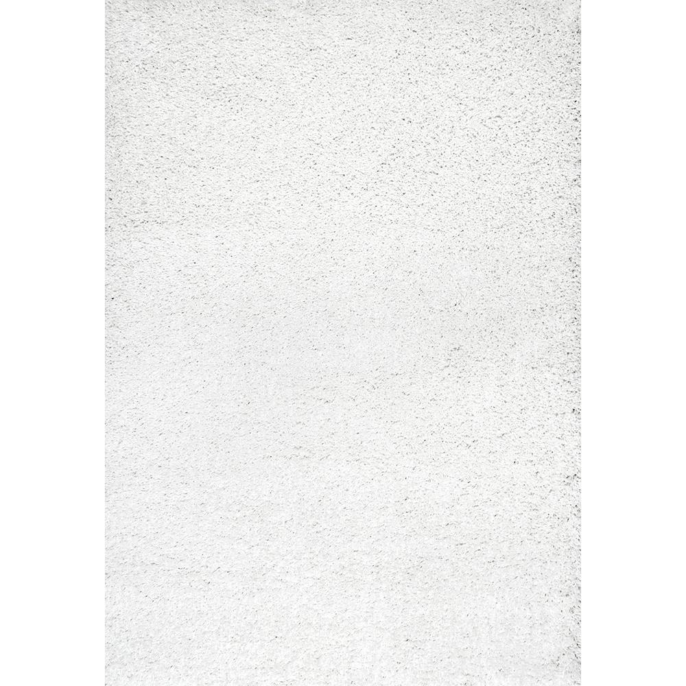 Shag White 11 ft. x 14 ft. Area Rug