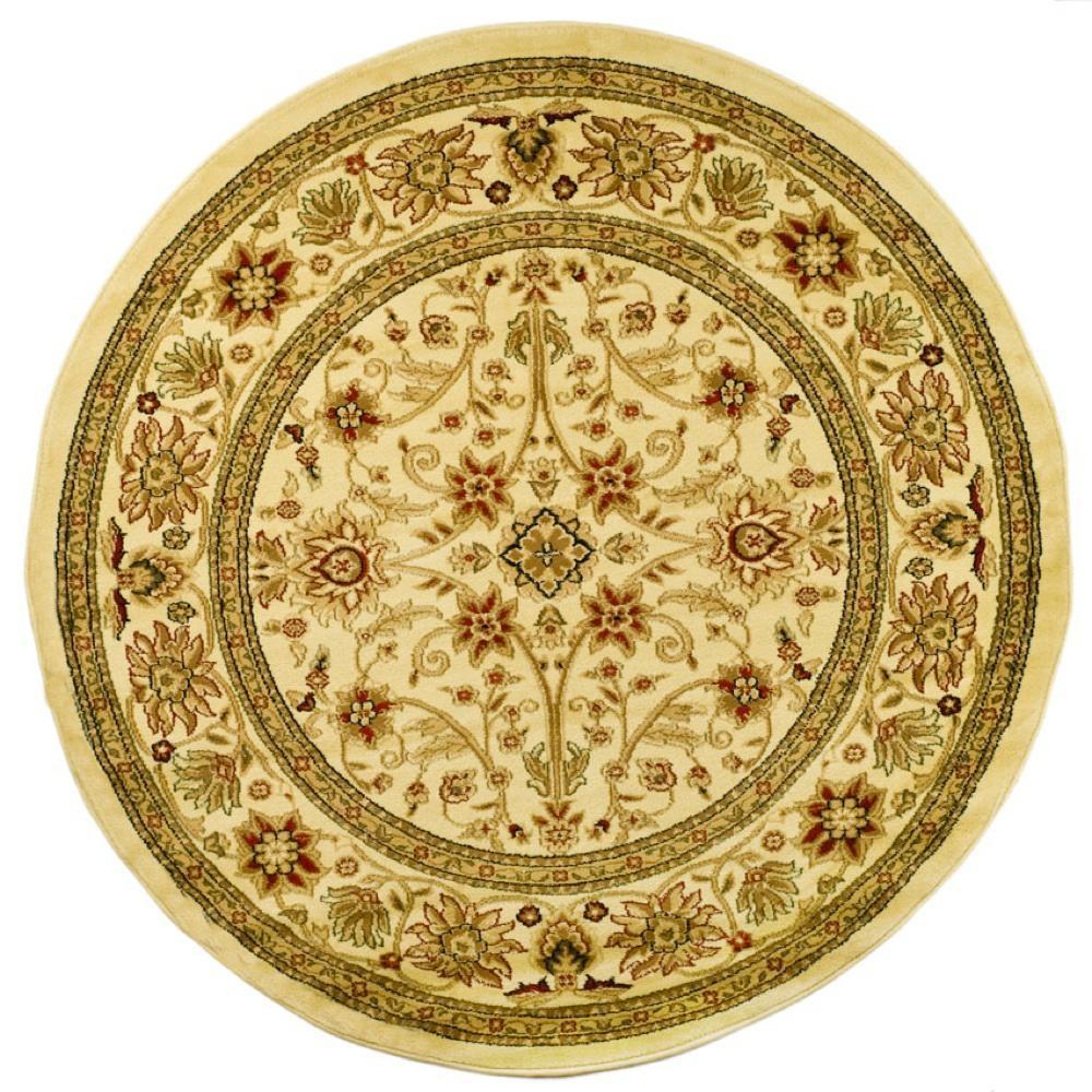 Safavieh Silk Road Ivory Sage 8 Ft X 8 Ft Round Area Rug