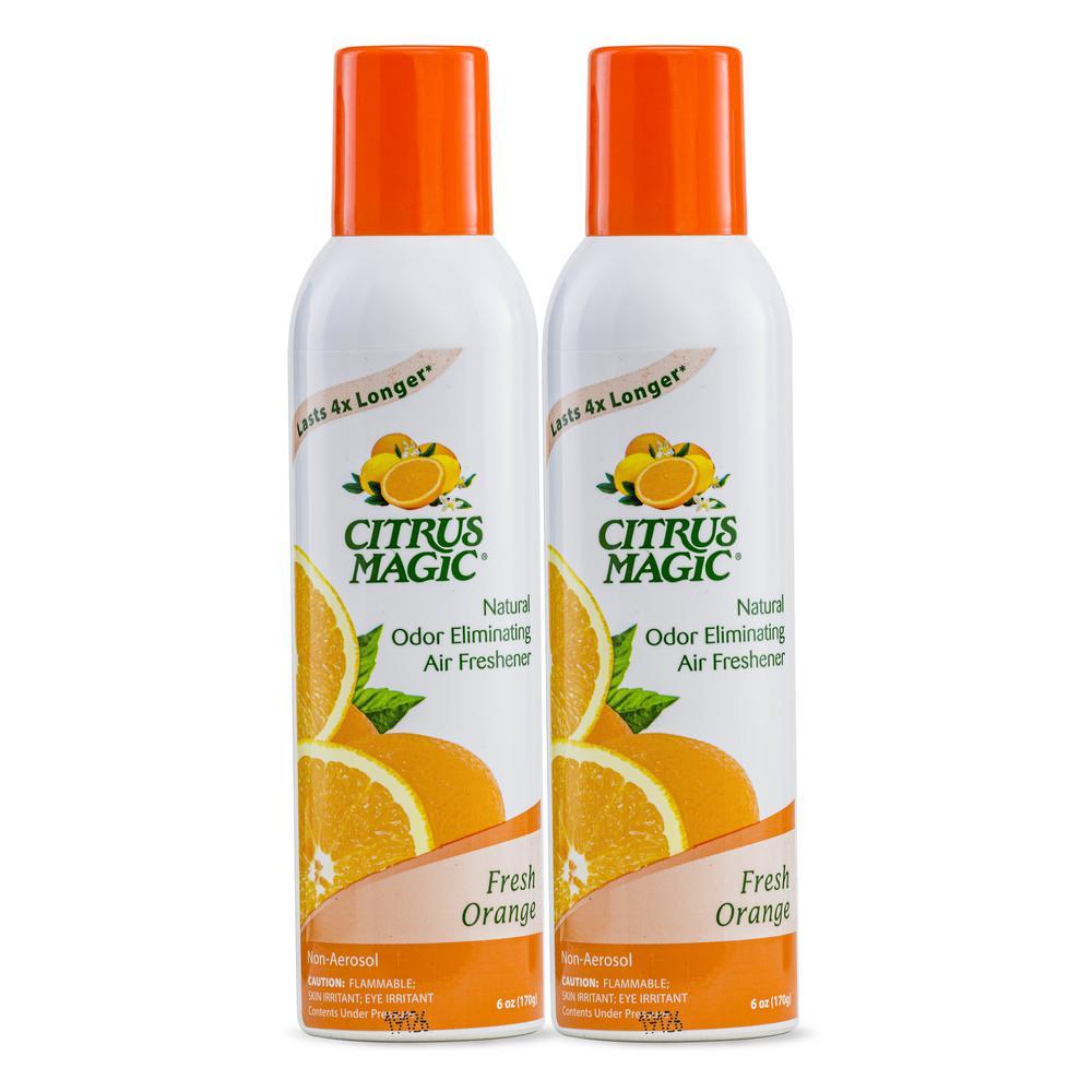 6 oz. Fresh Orange Natural Odor Eliminating Air Freshener Spray (2-Pack)
