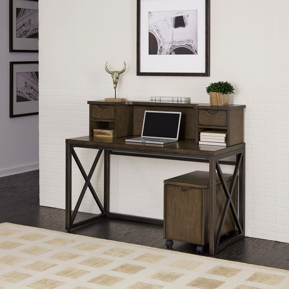 Home Styles Xcel Mahogany File Cabinet