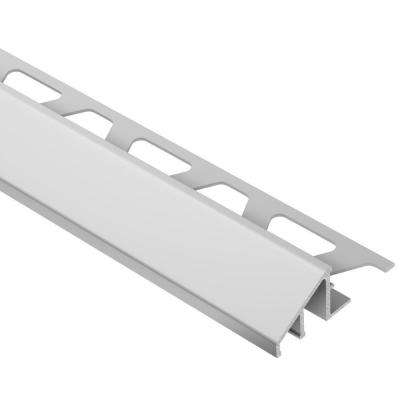 Reno-U Satin Anodized Aluminum 1/2 in. x 8 ft. 2-1/2 in. Metal Reducer Tile Edging Trim