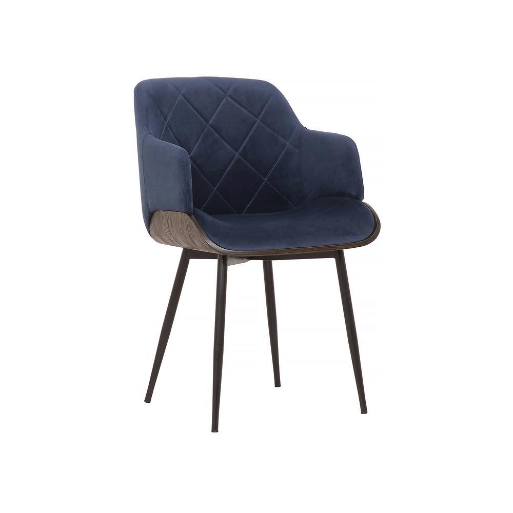 Todayu0027s Mentality Leah Dark Blue Velvet Dining Chair TMLEDIWABUHD   The  Home Depot