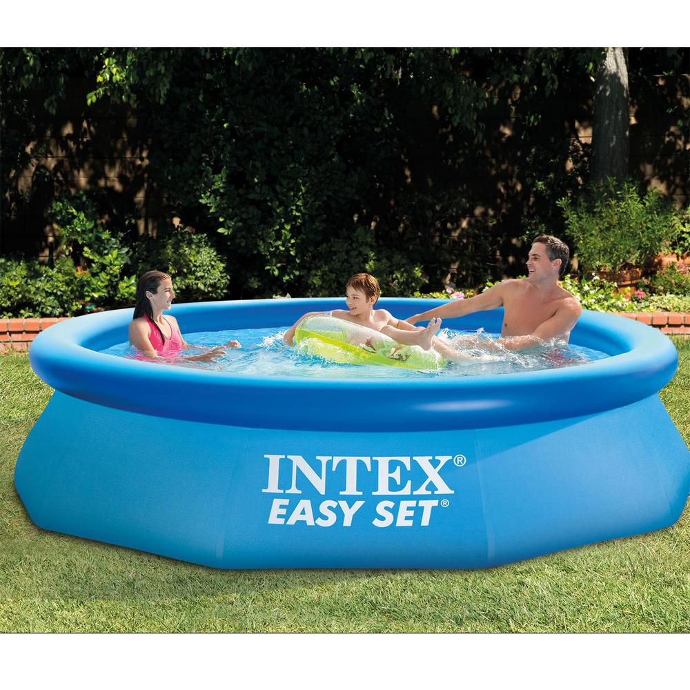 Intex 10 ft. x 30 in. Easy Set Inflatable Above Ground Swimming