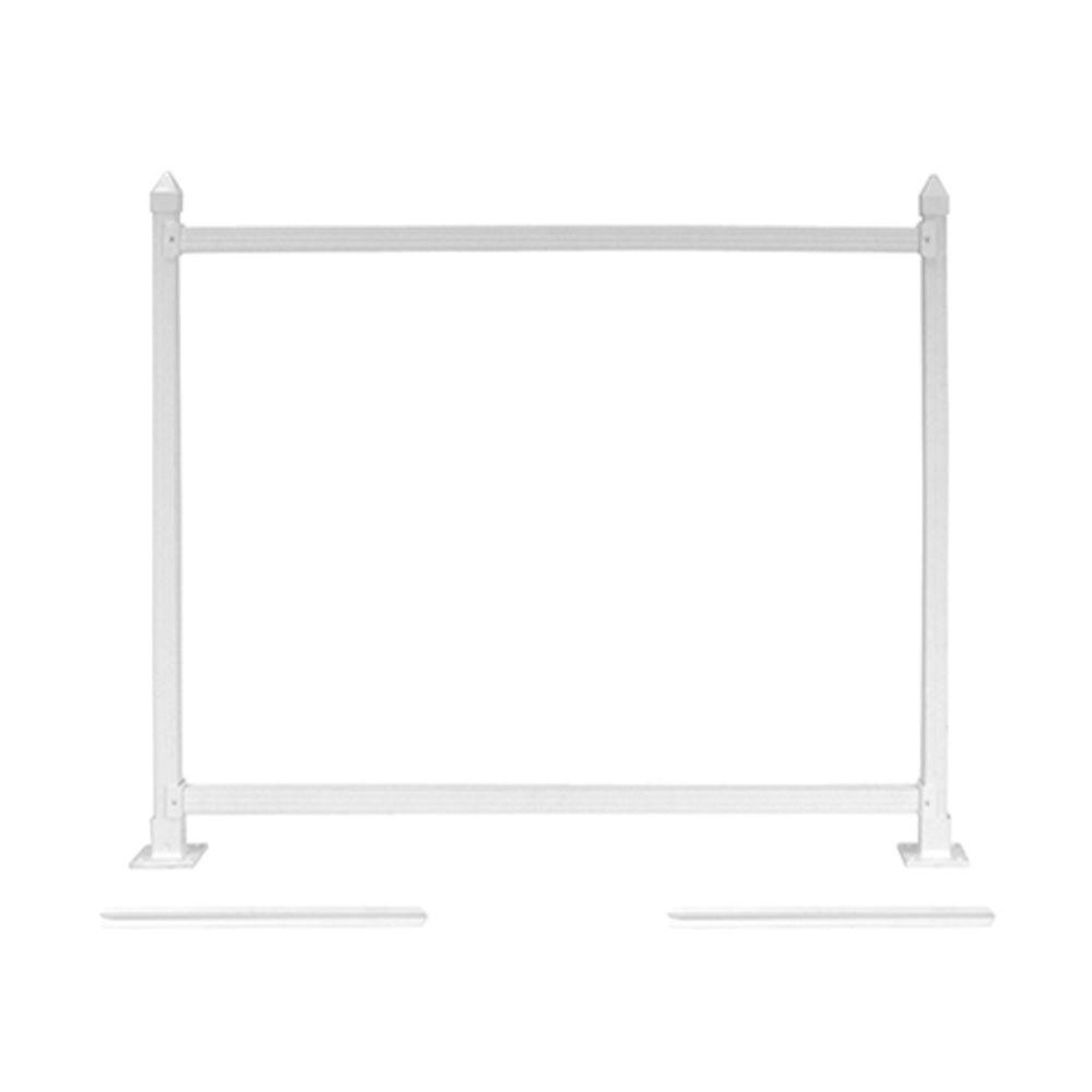 SnapFence 3 ft. x 4 ft. White Vinyl Fence Standard Extension Kit