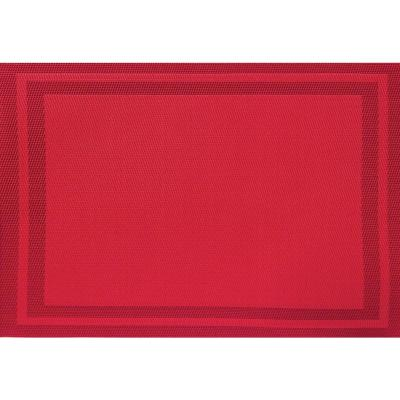 Red Basket Weave Placemat (Set of 8)