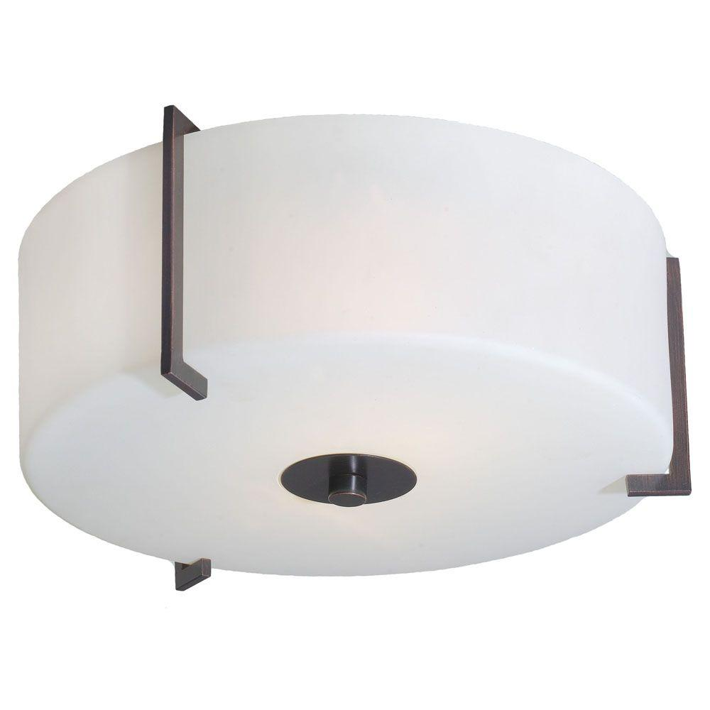 Eglo Tabea 2-Light Ceiling Oil Rubbed Bronze Light