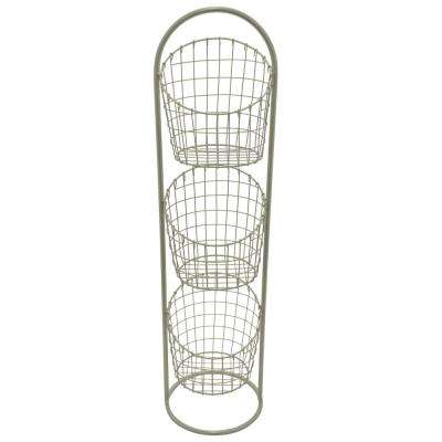 11 in. x 11 in. Metal 3-Tier Rack in Champagne