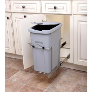 Knape and Vogt 9.625 inch x 20.125 inch x 18.813 inch 35 Qt. In-Cabinet Single Soft-Close... by Knape and Vogt