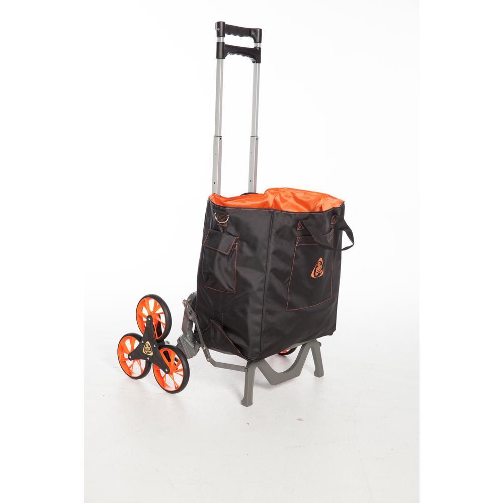 125 lb. Capacity Deluxe Folding Hand Truck and UpGrade Ba...