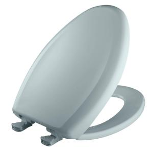 Bemis Slow Close STA-TITE Elongated Closed Front Toilet Seat in Blue Mist by BEMIS