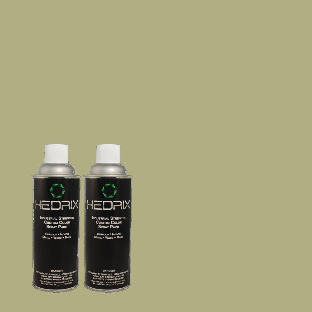 Hedrix 11 oz. Match of 420F-4 Sage Gloss Custom Spray Paint (2-Pack)