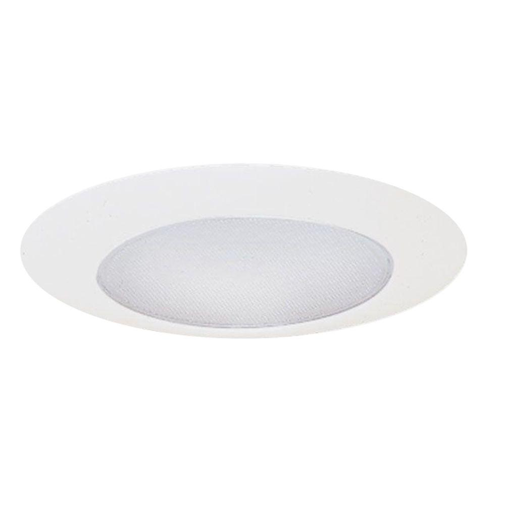 6 in. White CFL Recessed Ceiling Light Albalite Lens Shower Trim