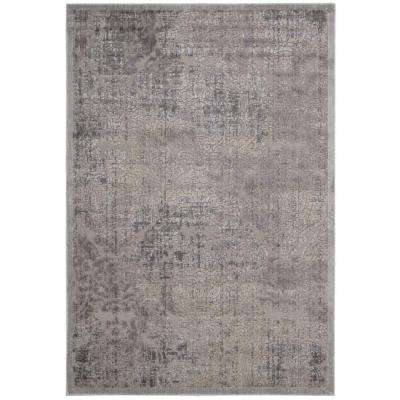 Graphic Illusions Grey 3 ft. 6 in. x 5 ft. 6 in. Area Rug