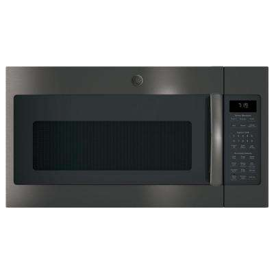 1.9 cu. ft. Over the Range Microwave with Recirculating Venting and Sensor Cooking in Black Stainless Steel
