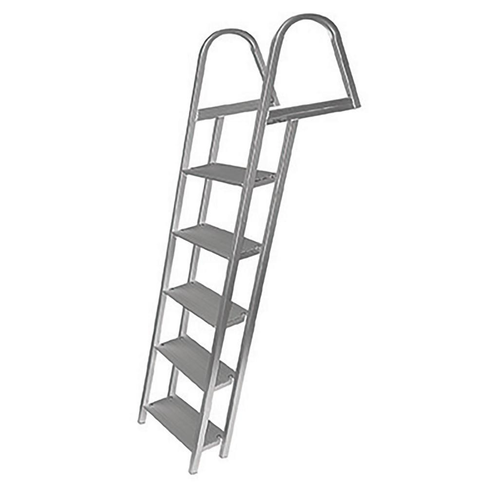 Tommy Docks 5-Step Angled Aluminum Ladder with Mounting Hardware