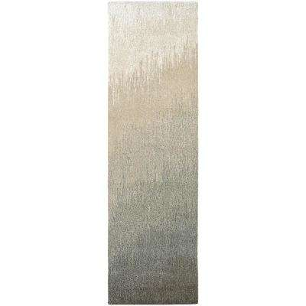 Super Indo-Natural Neutral Ombre Grey 2 ft. x 8 ft. Runner Rug