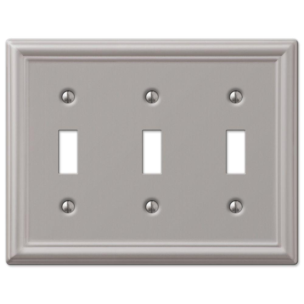 Hampton Bay Chelsea 3-Toggle Wall Plate
