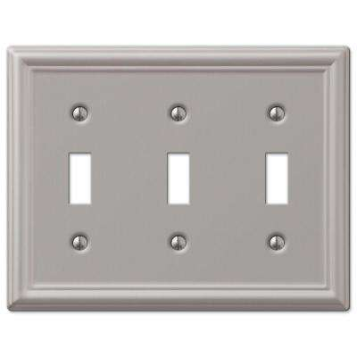 Chelsea 3 Toggle Wall Plate - Nickel