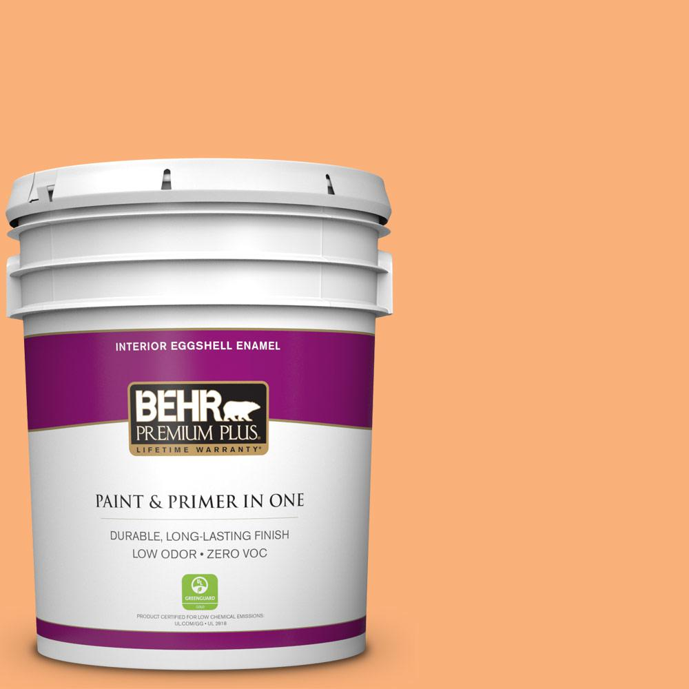BEHR Premium Plus 5-gal. #P220-5 Fuzzy Peach Eggshell Enamel Interior Paint
