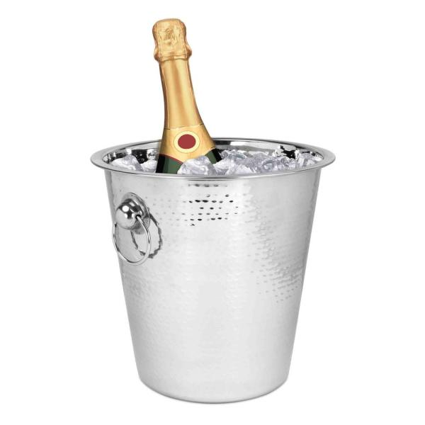 Home Basics Hammered Champagne Bucket