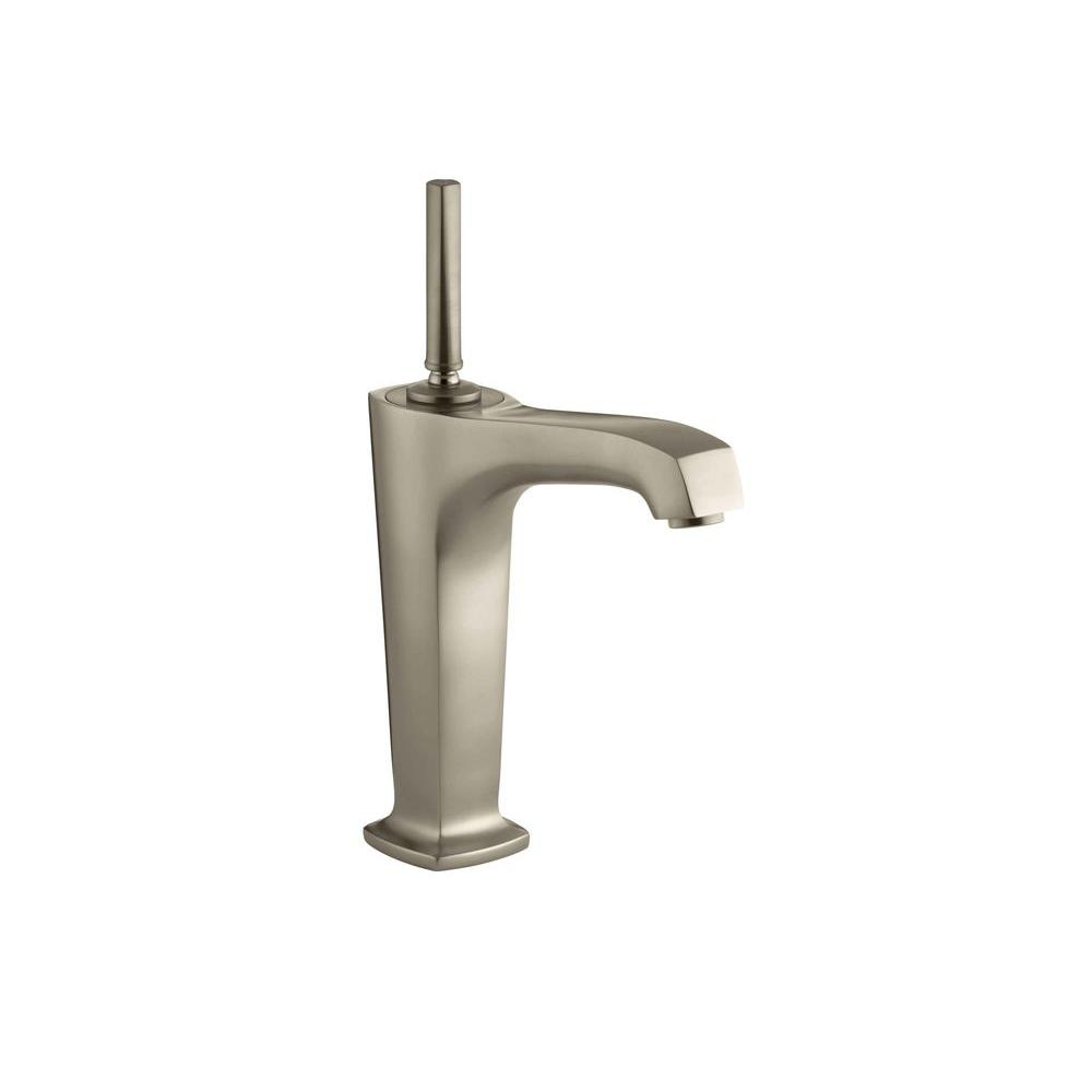 KOHLER Margaux Single Hole Single Handle Mid-Arc Bathroom Vessel Sink Faucet in Vibrant Brushed Bronze
