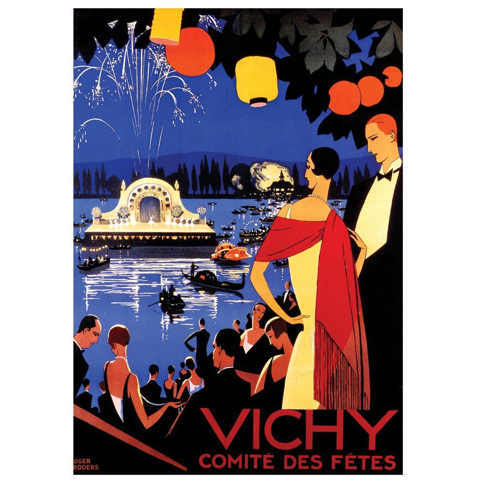 Trademark Fine Art 19 in. x 14 in. Vichy Comite Des Fetes Canvas Art