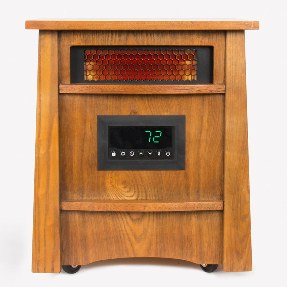 Lifesmart Furniture Style 8-Element Infrared Heater, Black