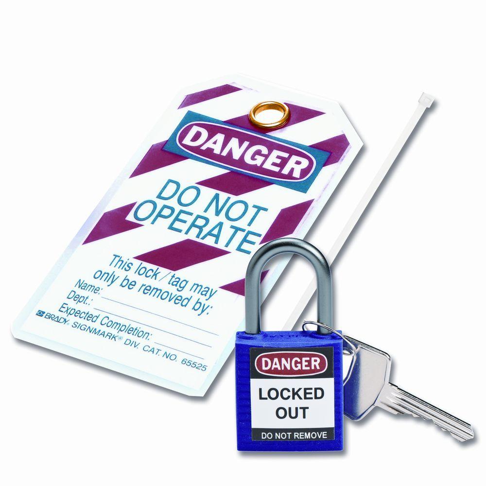 Compact Safety Padlock Kit - Purple