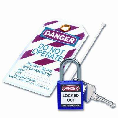 Compact Safety Padlock Kit - Purple