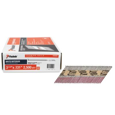 3-1/4 in. x 0.131-Gauge 30-Degree Brite Smooth Shank Paper Tape Framing Nails (2500 per Box)