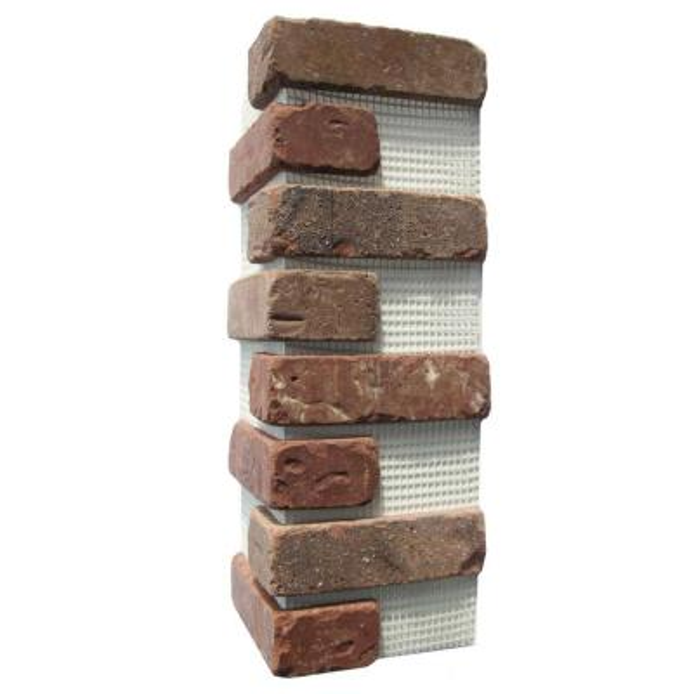 Brickwebb Columbia Street Thin Brick Sheets - Corners (Box of 3 Sheets)  21 in x 15 in (5.3 linear ft.)