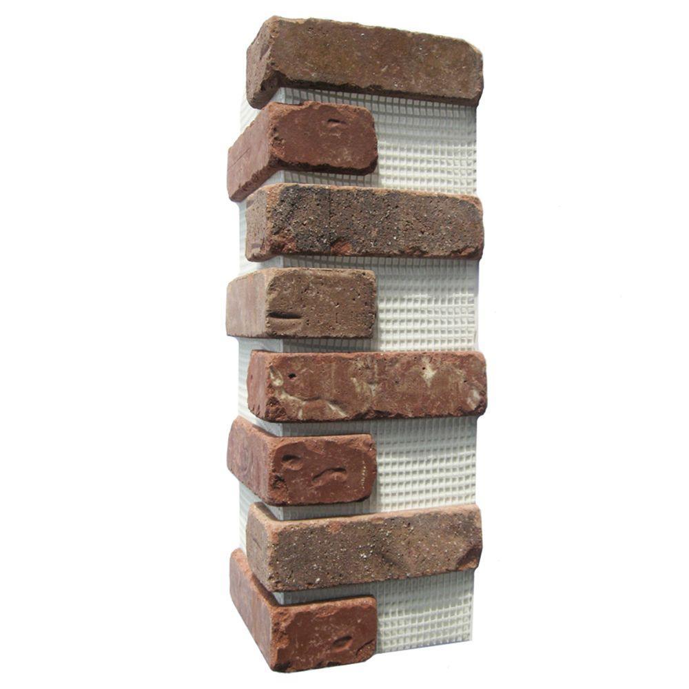 21 in. x 15 in. x 0.5 in. Columbia Street Brickweb Thin Brick Corners