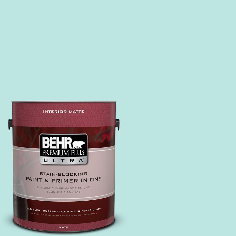 BEHR Premium Plus Ultra 1 gal. #490A-2 Cool Jazz Flat/Matte Interior Paint