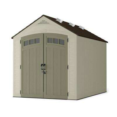Vista 7 ft. 4 in. W x 10 ft. 1-1/4 in. D x 8 ft. 2 in. H Resin Storage Shed