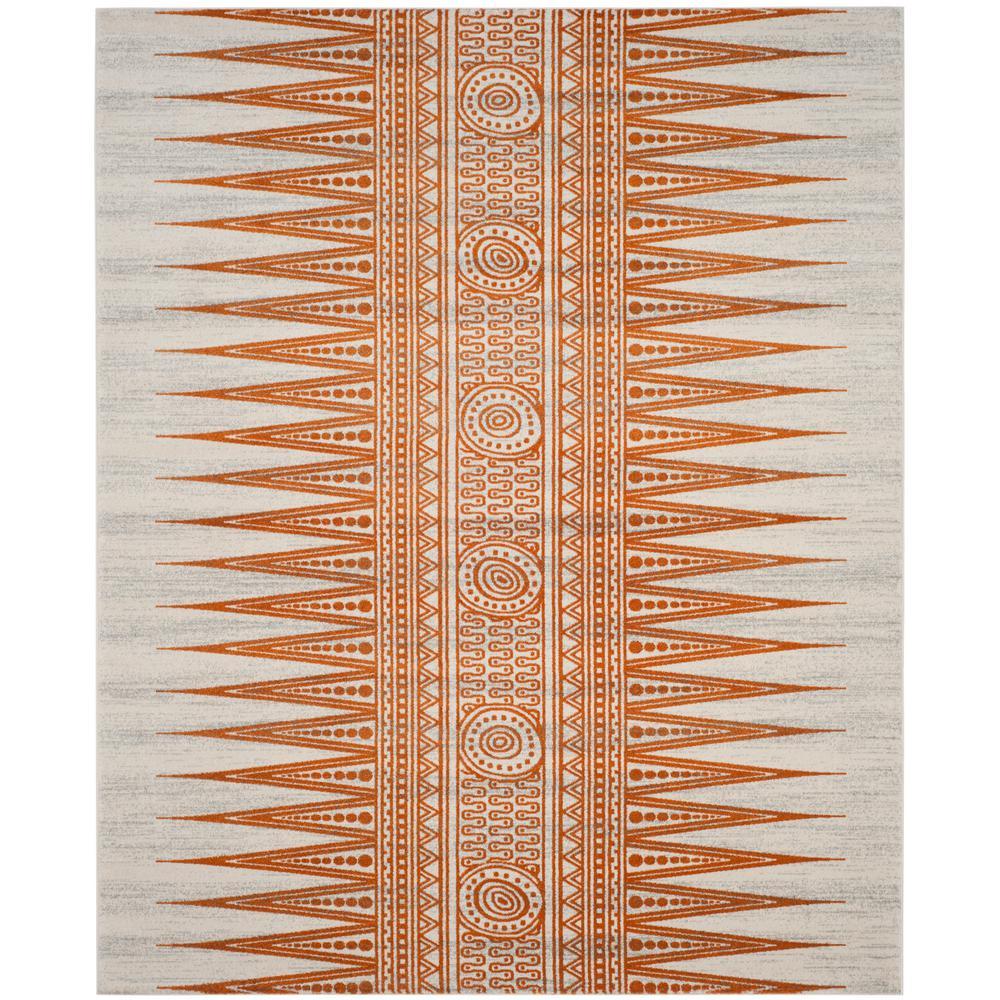 Evoke Ivory/Orange 9 ft. x 12 ft. Area Rug