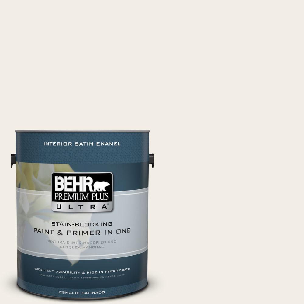 BEHR Premium Plus Ultra 1-gal. #750C-1 Ivory Mist Satin Enamel Interior Paint