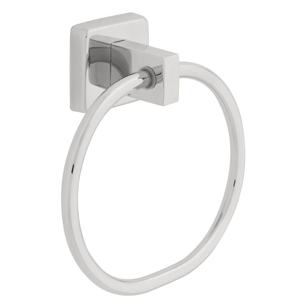 Franklin Brass Century Towel Ring in Polished Stainless