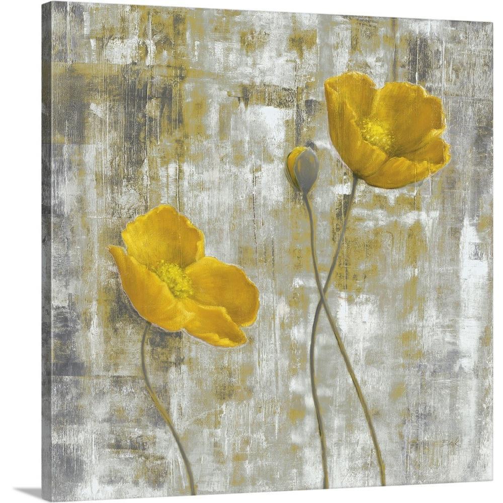 Yellow flowers i by carol black canvas wall art