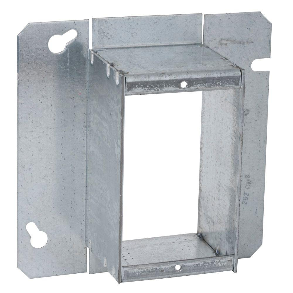 RACO 4-11/16 in. Square Single Device Mud Ring, Raised 2 ...