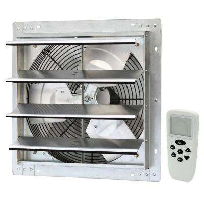 1200 CFM Silver Electric Powered Gable Mount Shutter Fan/Vent