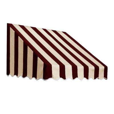 4 ft. San Francisco Window/Entry Awning (44 in. H x 48 in. D) in Burgundy/Tan Stripe
