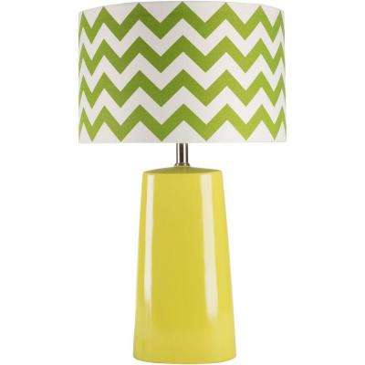 Caprotti 24 in. Green Indoor Table Lamp