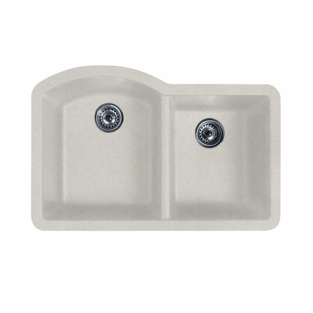 UPC 671037237129 Product Image For Swanstone 9 UPC 671037237129 Product  Image For Undermount Granite 32 In. 0 Hole Double Basin Kitchen ...