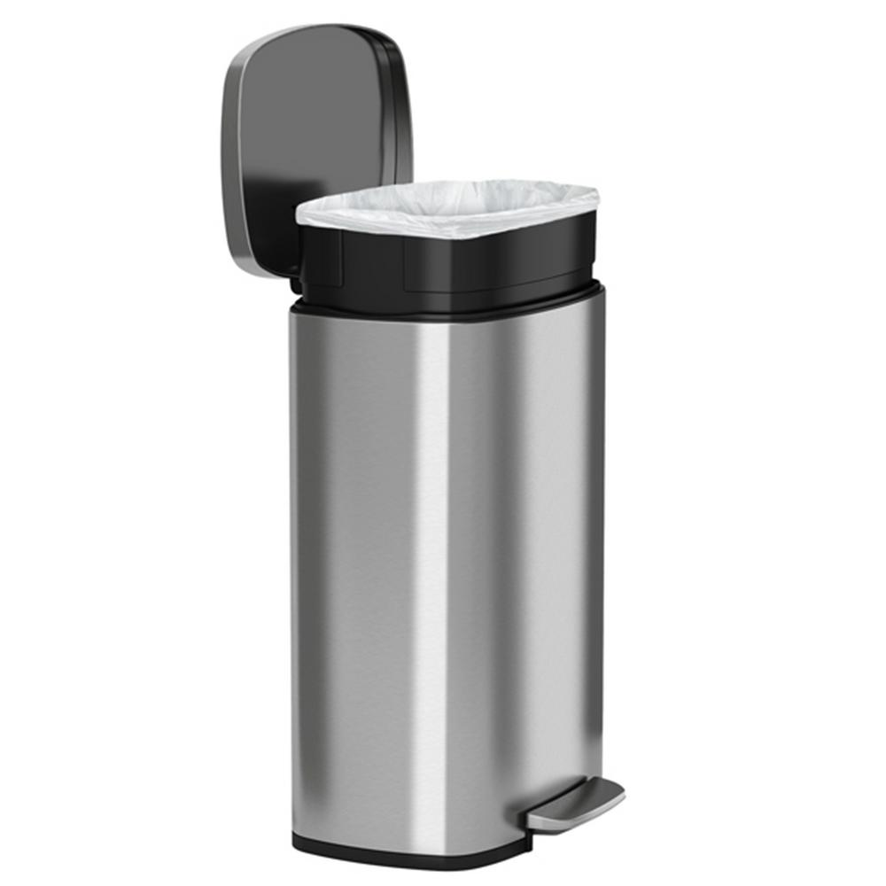 Stainless Steel Kitchen Garbage Can: 13.2 Gallon Step Trash Can Kitchen Stainless Steel Garbage