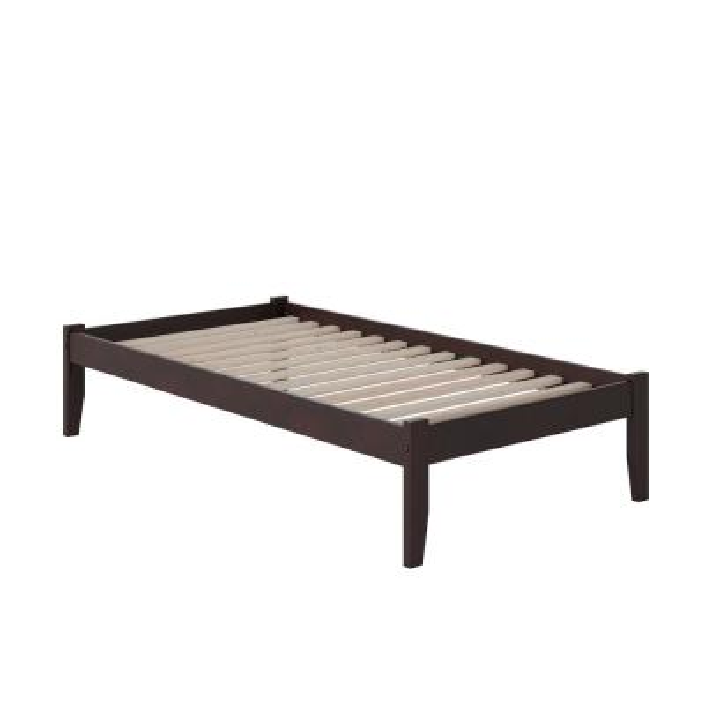 Concord Espresso Twin Platform Bed with Open Foot Board