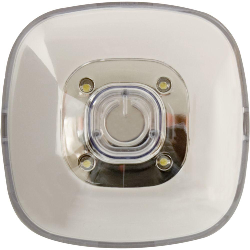GE White LED Plastic Square Tap Light
